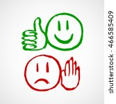 good bad symbols | Shutterstock .eps vector #466585409