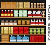 supermarket. shelfs shelves... | Shutterstock .eps vector #466589429