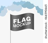 black promo flag mockup with... | Shutterstock .eps vector #466590665