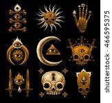 mystic symbols set. graphic... | Shutterstock . vector #466595375
