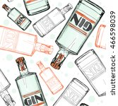 seamless pattern with gin   Shutterstock .eps vector #466598039