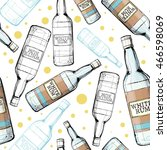 seamless pattern with white rum. | Shutterstock .eps vector #466598069