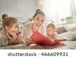 happy loving family. pretty... | Shutterstock . vector #466609931