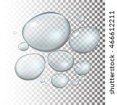 transparent water drop on light ... | Shutterstock .eps vector #466612211