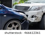 car crash from car accident on... | Shutterstock . vector #466612361
