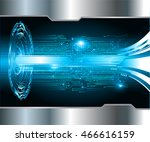 blue abstract cyber future... | Shutterstock .eps vector #466616159