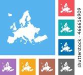 map of europe | Shutterstock .eps vector #466616909
