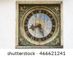 Medieval Wooden Clock On The...
