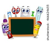 vector illustration of school... | Shutterstock .eps vector #466624655