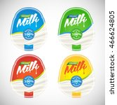milk labels set ready for your... | Shutterstock .eps vector #466624805