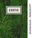 vector card vintage. exotic... | Shutterstock .eps vector #466626197