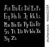vector alphabet. hand drawn...   Shutterstock .eps vector #466632359