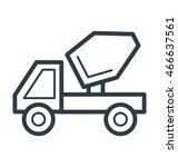 concrete truck cool vector icon | Shutterstock .eps vector #466637561