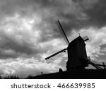 old windmill | Shutterstock . vector #466639985