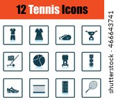 tennis icon set. shadow...