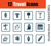 travel icon set.  shadow...