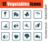 vegetables icon set. shadow...