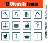 utensils icon set. shadow...