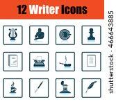 set of writer icons. flat...