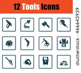 tools icon set. shadow...
