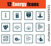 energy icon set. shadow...