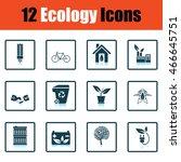 ecology icon set. shadow...
