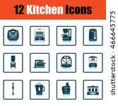 kitchen icon set. shadow...   Shutterstock .eps vector #466645775