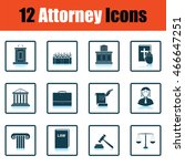 set of attorney  icons.  shadow ... | Shutterstock .eps vector #466647251