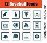 baseball icon set. shadow...