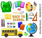 school set isolated objects... | Shutterstock .eps vector #466648115