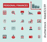 personal finances icons | Shutterstock .eps vector #466652159