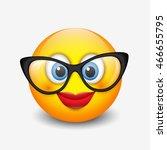 Cute Smiling Emoticon Wearing...