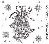 vector cute fairy doodle...   Shutterstock .eps vector #466663721