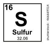 periodic table element sulfur | Shutterstock .eps vector #466669514