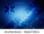 2d illustration abstract... | Shutterstock . vector #466672811