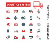 logistics system icons | Shutterstock .eps vector #466673351
