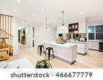 modern kitchen with white walls ... | Shutterstock . vector #466677779