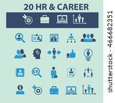 human resources  career icons | Shutterstock .eps vector #466682351