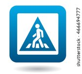 sign pedestrian crossing icon... | Shutterstock . vector #466694777
