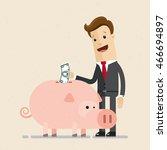 man in suit  businessmen or... | Shutterstock .eps vector #466694897