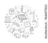 doodle set of images about good ... | Shutterstock .eps vector #466697021