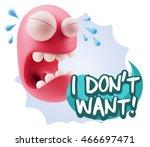 3d illustration sad character...   Shutterstock . vector #466697471