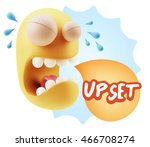 3d illustration sad character... | Shutterstock . vector #466708274