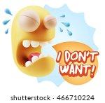 3d illustration sad character... | Shutterstock . vector #466710224