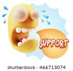 3d illustration sad character... | Shutterstock . vector #466713074