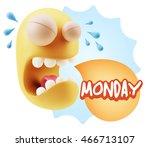 3d illustration sad character...   Shutterstock . vector #466713107