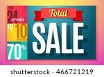 total sale banner color design. ... | Shutterstock .eps vector #466721219