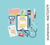 form of health insurance.... | Shutterstock .eps vector #466722479