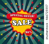 sale banner template and... | Shutterstock .eps vector #466725557
