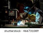 industrial welding worker at... | Shutterstock . vector #466731089